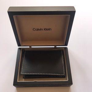 Leather Credit Card Holder in Black NWOT
